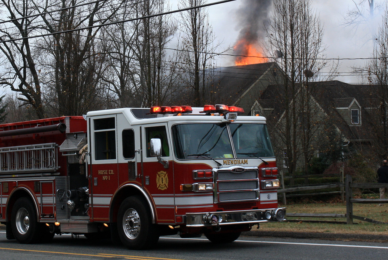 Chester NJ (Morris Cty) Rt. 24 House Fire 11/26/13